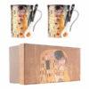 Skodelici z žličko Klimt Kiss Black 250ml