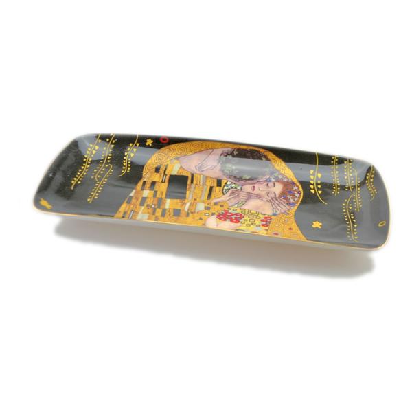 Pladenj_Klimt_Kiss_Black_porcelan