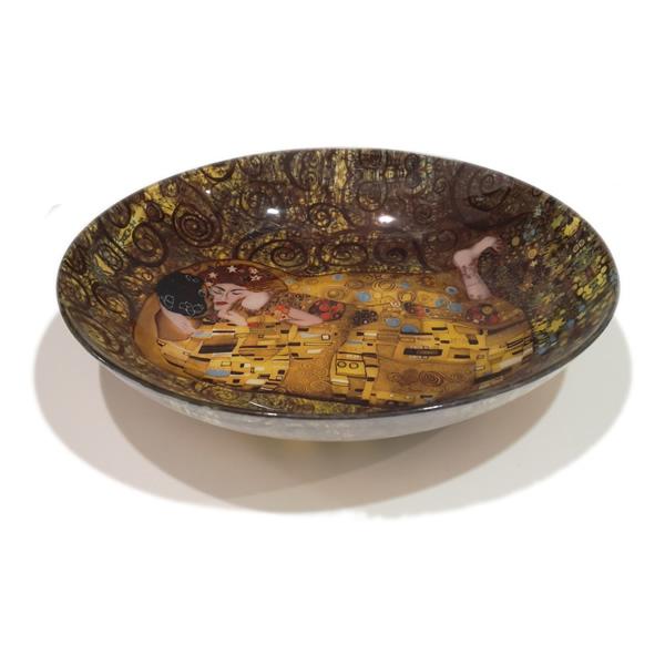 Krožnik steklen Klimt Kiss 30cm